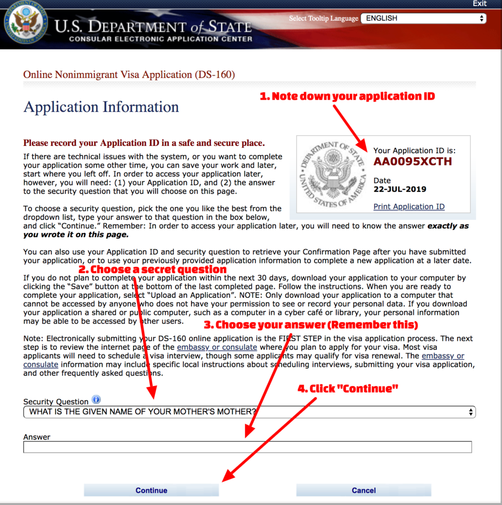 How To Fill US_Visit_Visa_Applicaiton - Step 2